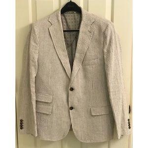 BILLY REID Beige Cotton Sport Coat Blazer Jacket